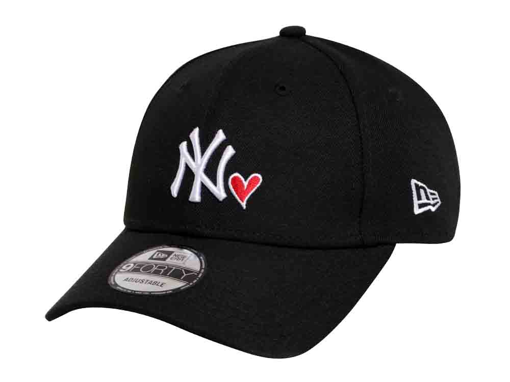 57646a32569 New York Yankees MLB Heart Black 9FORTY Cap