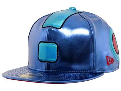 54ca25057a3 Megaman Head Blue 59FIFTY Cap ...