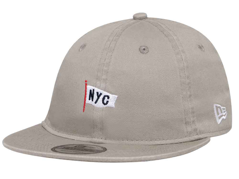 New Era NYC Original Graphics Cloth Strap Beige 9TWENTY Flat Visor ... 4fc3748bf2e
