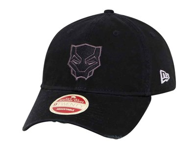 Black Panther Marvel Rugged Patcher Black 9TWENTY Cap ... 8453efed09d