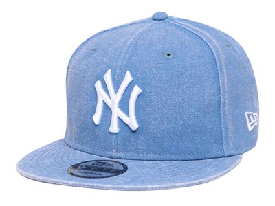 New York Yankees MLB Italian Wash Duck Canvas Light Blue 9FIFTY Cap