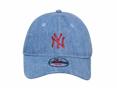 New York Yankees MLB Japan Washed Denim 9TWENTY Youth Kids Cap