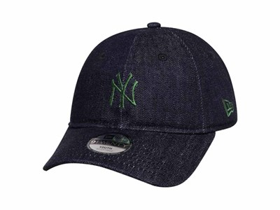 New York Yankees MLB Japan Indigo Denim 9TWENTY Youth Kids Cap