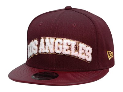 Los Angeles Dodgers MLB Boucle Patch Maroon 9FIFTY Cap