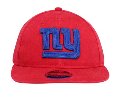 New York Giants NFL Stone Wash Scarlet 9FIFTY Cap
