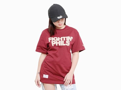 Fightin Phils Philadelphia Phillies MLB Super Big Fan Short Sleeve Pocket Burgundy Shirt
