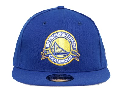 Golden State Warriors NBA 6 Time Champions Royal Blue 9FIFTY Cap (ONLINE EXCLUSIVE)