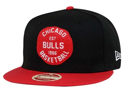 Chicago Bulls NBA Double Patched Snap Black Red 9FIFTY Cap