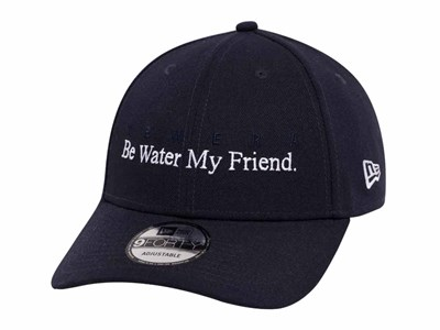 Be Water My Friend Bruce Lee Navy 9FORTY Cap ... 7505092bc67