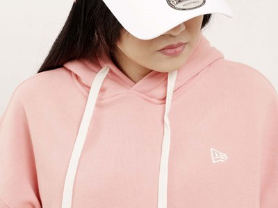 New Era Essential Fleece Peach Pink Hoodie