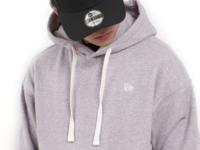 New Era Essential Fleece Heather Gray Hoodie