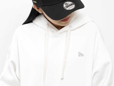 New Era Essential Fleece White Hoodie