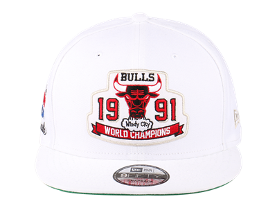 Chicago Bulls NBA 1991 Champions White 9FIFTY Cap