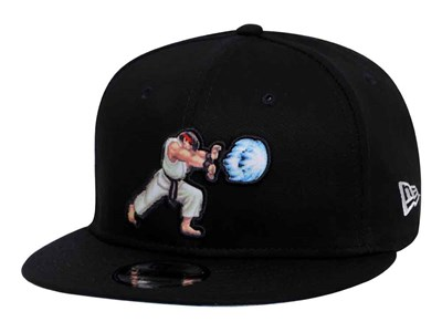 Ryu Street Fighter Logo Black 9FIFTY Cap