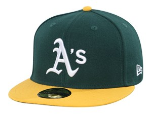 Oakland Athletics MLB AC Yellow Green 59FIFTY Cap (ESSENTIAL)