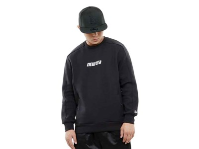 New Era Crew Neck Tech Black Sweatshirt