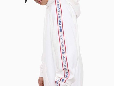 New Era World Wide 3 Off White Hoodie