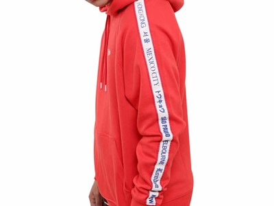 New Era World Wide 3 Red Hoodie