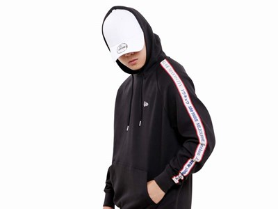 New Era World Wide 3 Black Hoodie