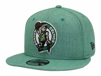 Boston Celtics NBA Heather Crisp Green 9FIFTY Cap ... bd5715b1580