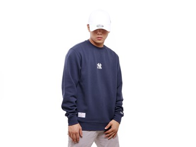 New York Yankees MLB Super Big Fan Navy Crew Neck Sweatshirt