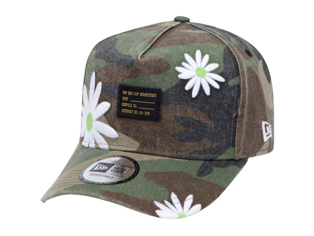 904ec6ed996 ... top quality new era military flower woodland camo 9forty d frame cap  30c03 3602c