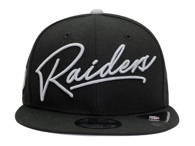 Oakland Raiders NFL Scripted Turn Black 9FIFTY Cap