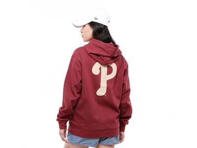 Philadelphia Phillies MLB Super Big Fan Burgundy Hoodie