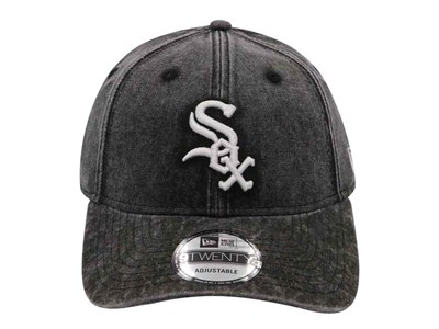 Chicago White Sox MLB Rugged Wash Black 9TWENTY Cap