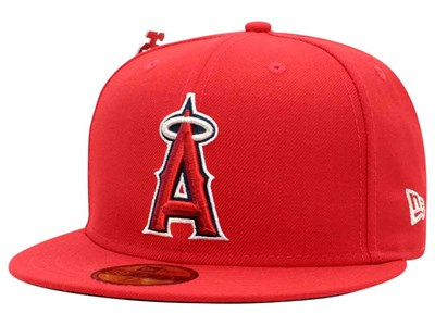 e4067ecba6d Anaheim Angels MLB 25th Anniversary Red 59FIFTY Cap Anaheim Angels MLB 25th  Anniversary Red 59FIFTY Cap. New