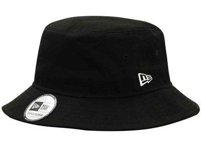 New Era Plain Black Bucket
