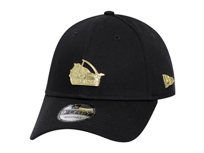 e79209fde De La Salle Green Archers UAAP Gold Badge Black 9FORTY Cap ...
