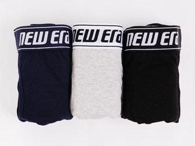 New Era 3-Pack Trunk Black Gray Navy Underwear Accessory