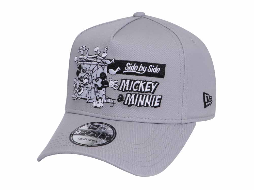 Mickey   Minnie Mouse Side by Side Disney Gray 9FORTY K-Frame Cap ... 14cb2e43192e