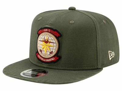 Captain Marvel CM1 Pilot Olive 9FIFTY Cap ... 07f1d81ad06e