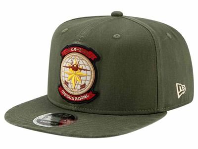 7005ea4cfd1 Captain Marvel CM1 Pilot Olive 9FIFTY Cap ...