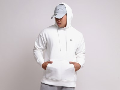 New Era Flag Mini Logo White Essential Hoodie