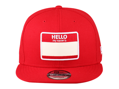 New Era Hello My Name Is Red 9FIFTY Cap