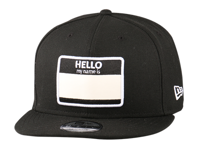 New Era Hello My Name Is Black 9FIFTY Cap