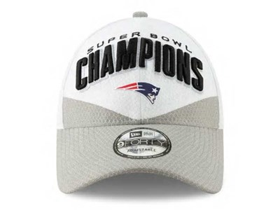 New England Patriots NFL Super Bowl Champions 2019 White Gray 9FORTY Cap