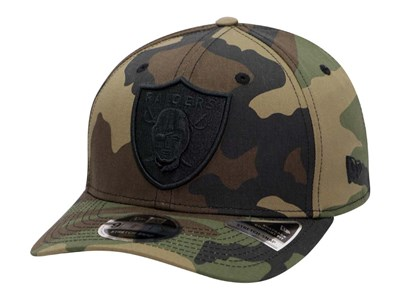 Oakland Raiders NFL Team Stretch Snap Woodland Camouflage 9FIFTY Cap (LAST STOCK)