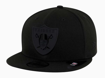 Oakland Raiders MLB Metal Stack Black 9FIFTY Cap
