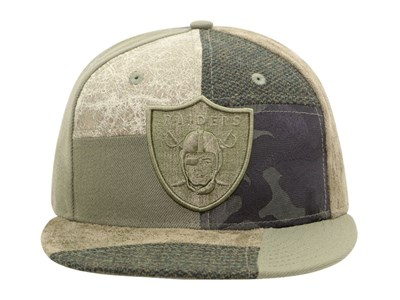Oakland Raiders NFL Premium Patched Camo 9FIFTY Cap