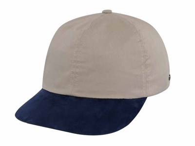 New Era Cotton Suede Navy Beige 19TWENTY Cap