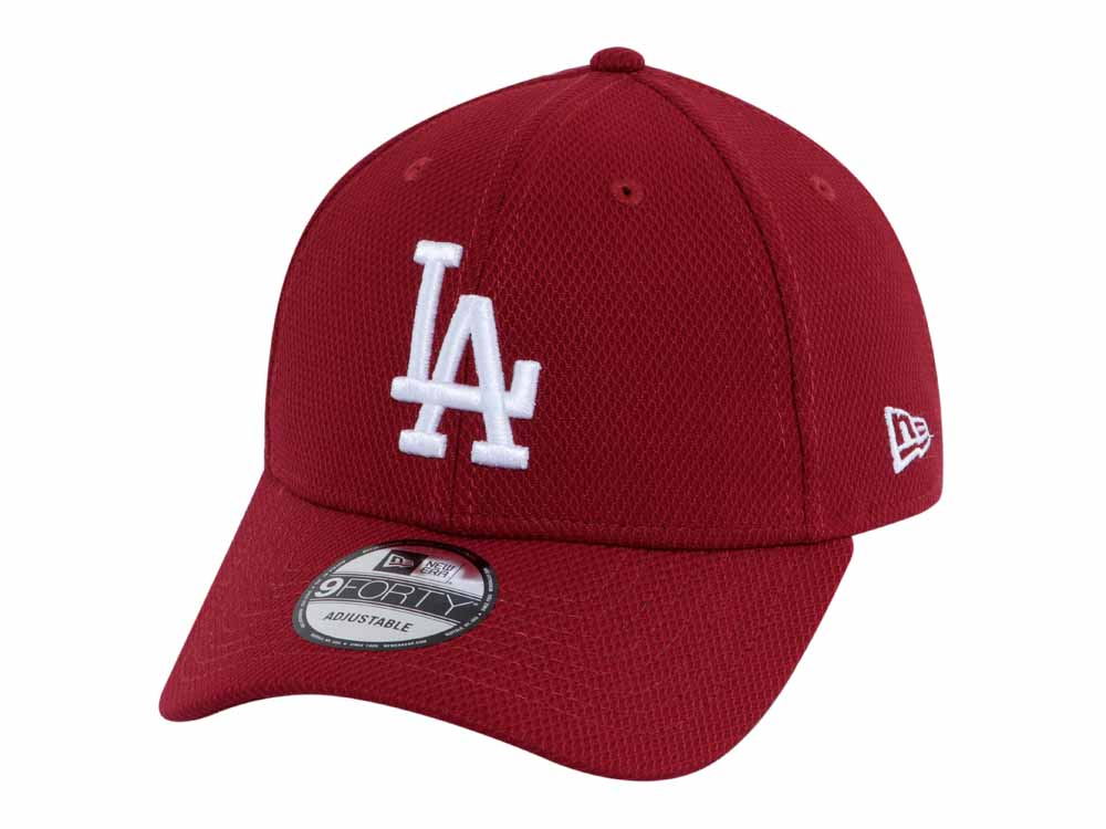 finest selection d6126 fdee9 Los Angeles Dodgers MLB Diamond Era Cardinal 9FORTY Cap