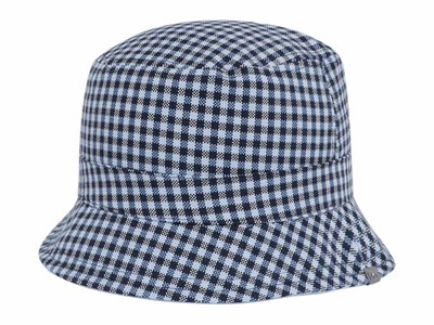 56c885ea1d9ee New Era Gingham Reversible Checkered Blue Sky Blue Bucket Cap ...