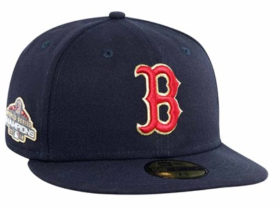 Boston Red Sox MLB World Series Champs 2018  Gold Patch Navy 59FIFTY Cap