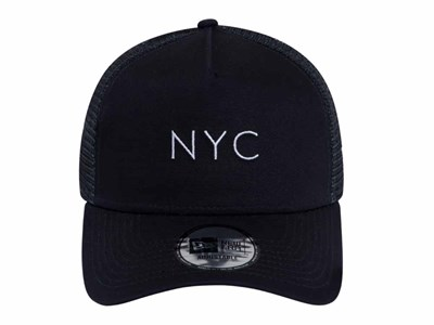 5b37cce0 ... New Era NYC Trucker Mesh Navy 9FORTY A-Frame Cap