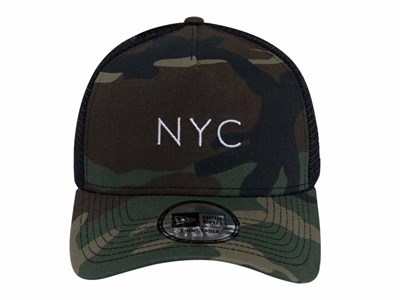 9ac451fc3 ... New Era NYC Trucker Mesh Woodland Camo 9FORTY A-Frame Cap