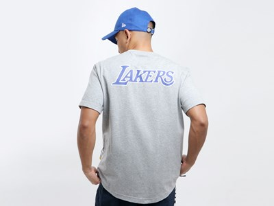 Los Angeles Lakers NBA Side Pocket Heather Gray Shirt